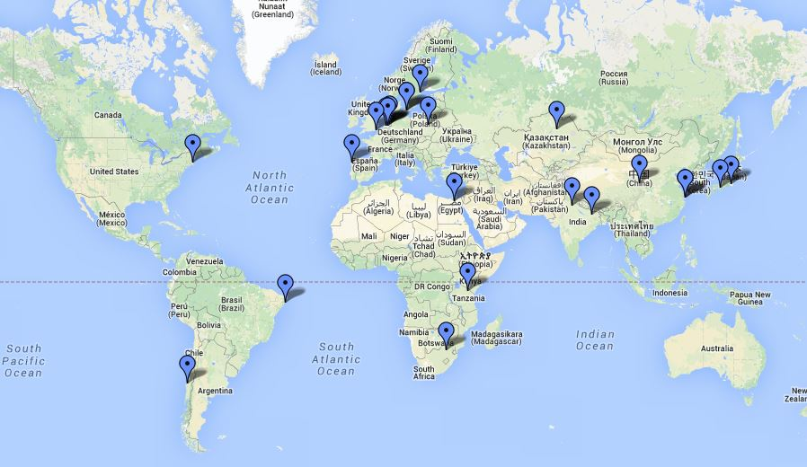 Work world map Rosie Tanner Education Consultant